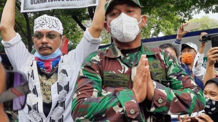 Asops Kasdam Jaya Sambil Telungkupkan Tangan Minta Massa Aksi 1812 Bubarkan Diri