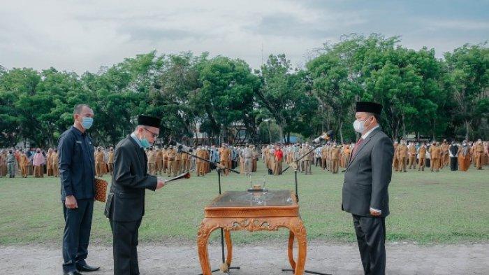 Sekda Aceh Tamiang Dilantik di Terik Matahari, Mursil: Bukan Jabatan Sejuk, Harus Berpeluh Keringat