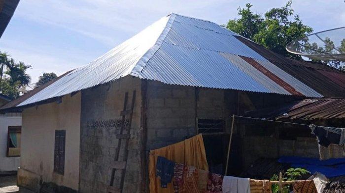 Seluruh Atap Rumah yang Rusak Akibat Puting Beliung di Labuhanhaji Sudah Direnovasi