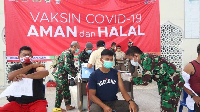 Atlet PON Aceh Jalani Vaksinasi Covid-19