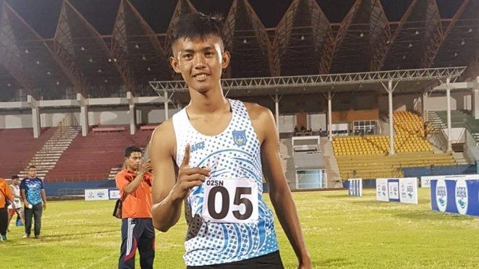 Atlet Peraih Emas Asal Langsa Kejar GelarJuara Nasional Atletik 100 M Putra