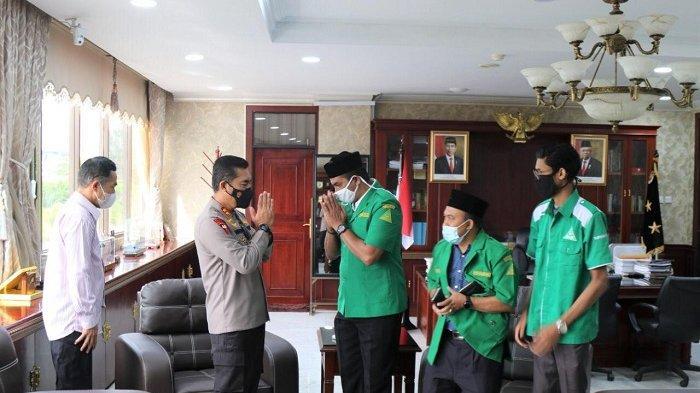 Terima Audiensi GP Ansor Aceh, Kapolda Sebut Pemuda Dapat Berperan Memerangi Covid-19