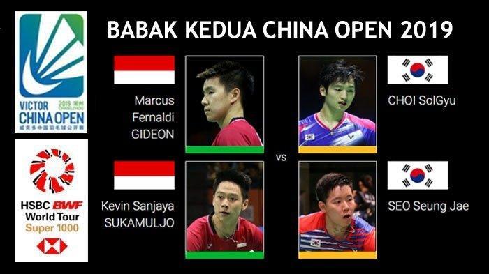 Jadwal China Open 2019 Hari Ini, Marcus/Kevin Hadapi Lawan yang Singkirkan Mereka di Kejuaraan Dunia