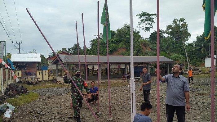 Sukseskan MTQ IX Aceh Jaya, TNIdan Warga Gotong-royong
