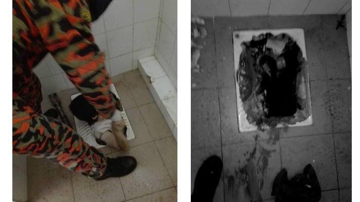 Viral Seorang Wanita Terperosok Jatuh ke Lubang WC Jongkok hingga Sedalam Dadanya