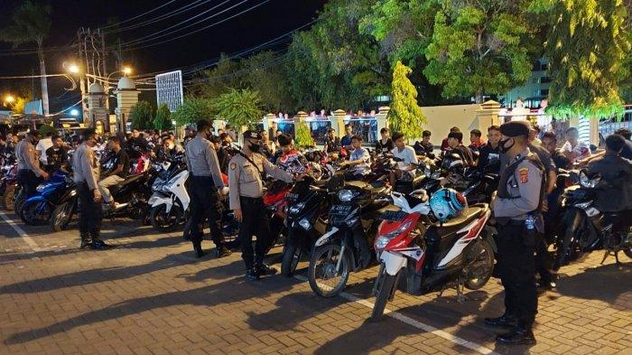 Seratusan Pembalap Liar 'Disergap' dari Kawasan Ulee Lheue, Sepeda Motor Didorong Menuju Polresta