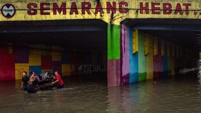 Banjir Semarang, Jadwal Perjalanan Kereta Api Terganggu, Foto dan Video Beredar di Medsos
