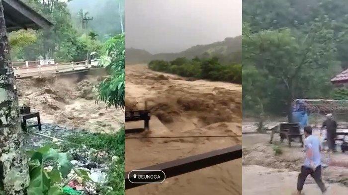 Banjir Bandang Terjang Tangse, Menyapu Sejumlah Kios di Lokasi Wisata Blang Leubu