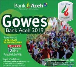 Bank Aceh Adakan Gowes Bareng Warga, Pendaftaran Dimulai Hari Ini
