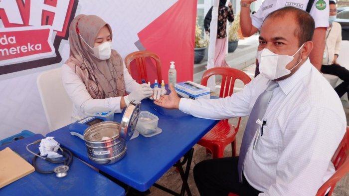Bank Aceh Syariah Kantor Pusat Operasional Sumbang Darah 46 Kantong