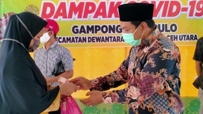 Ulee Pulo Desa Perdana Cairkan BLT di Kecamatan Dewantara Aceh Utara