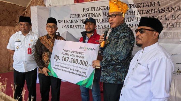 Bank Aceh Syariah Bantu Korban Bencana Sulteng
