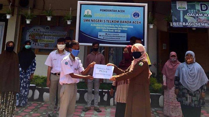 Memperlancar Proses Belajar Online, SMKN 5 Telkom Banda Aceh Bantu Paket Data Gratis Untuk Siswa