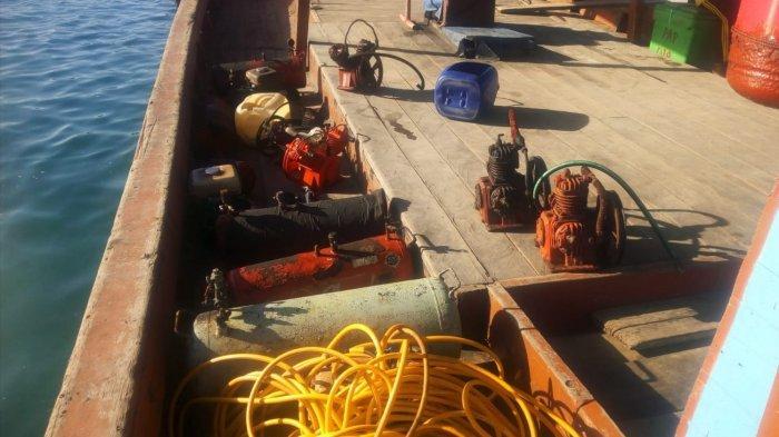 Gunakan Kompresor Enam Kapal Nelayan Diamankan Tim Operasi Pengamanan Laut Aceh Singkil