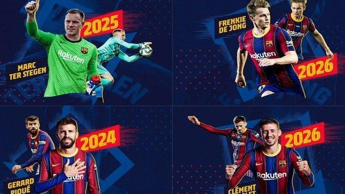 Menang Telak Atas Ferencvaros, Barcelona Resmi Perpanjang Kontrak Empat Pemain
