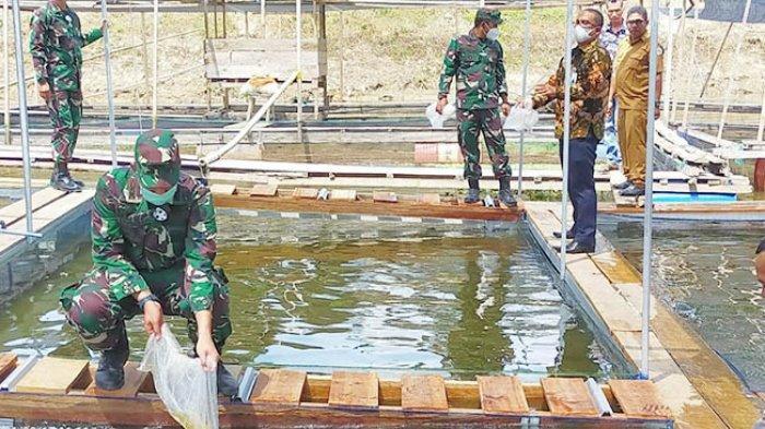 Bank Aceh Syariah Cabang Lhokseumawe bersama TNI dari Komando Daerah Militer Iskandar Muda (Kodam IM) serta jajarannya, Komando Distrik Militer (Kodim) 0103 Aceh Utara melakukan penaburan bibit di Kecamatan Langkahan, Aceh Utara, Kamis, (18/5/2021)
