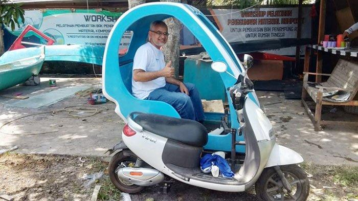 Unsyiah Luncurkan Produk Inovasi Kabin Becak Listrik Berbahan Komposit, Yuk Cek Kelebihannya