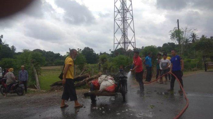 Satu Becak Mesin di Lhoong Aceh Besar Terbakar Saat Membawa Ikan Laut, Begini Kejadiannya