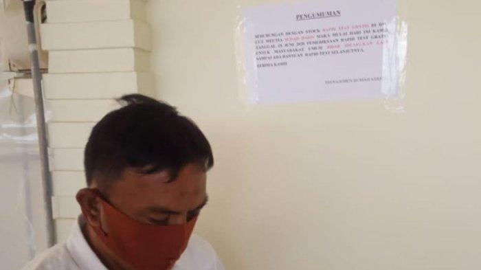 Rapid Test Gratis kepada Masyarakat di RSUCM Aceh Utara belum Bisa Dilayani Hingga Besok,Ini Sebab