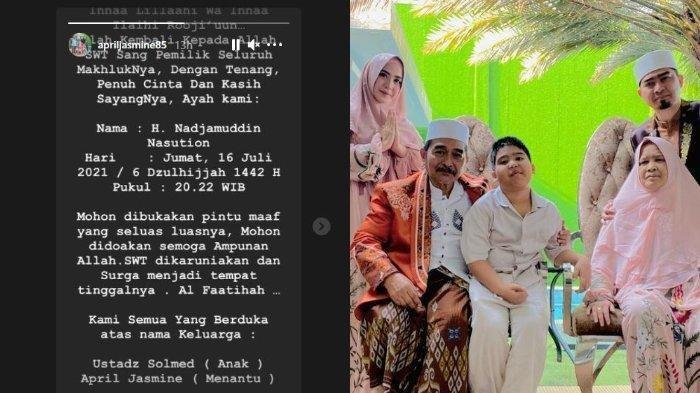 Belum genap seminggu ibunda meninggal, Ustad Solmed harus kembali kehilangan sang ayah pada Jumat (16/7/2021).
