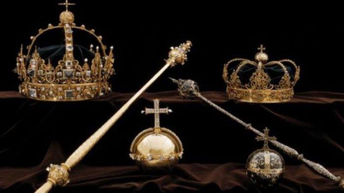 Dua Mahkota Kerajaan Swedia Dicuri, Pelaku Kabur Pakai perahu Motor