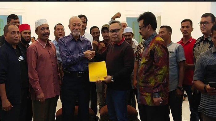 Bahas Bendera Bulan Bintang, Eks Petinggi GAM Bertemu Pengamat Intelijen di Istana Wali Nanggroe