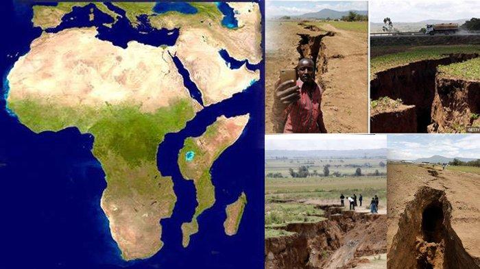 NGERI! Muncul Jurang, Terlihat Mata Air dan Rumah Warga Hancur, Apakah Benua Afrika Akan Terbelah