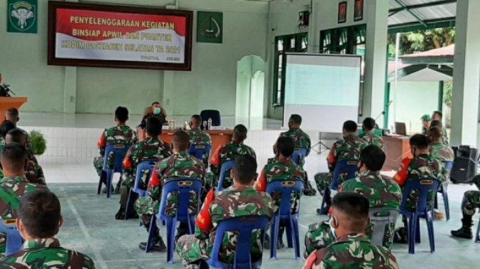 Danramil dan Babinsa Kodim 0107/Aceh Selatan Ikuti Bin Siap Apwil dan Puanter, Ini Pesan Dandim