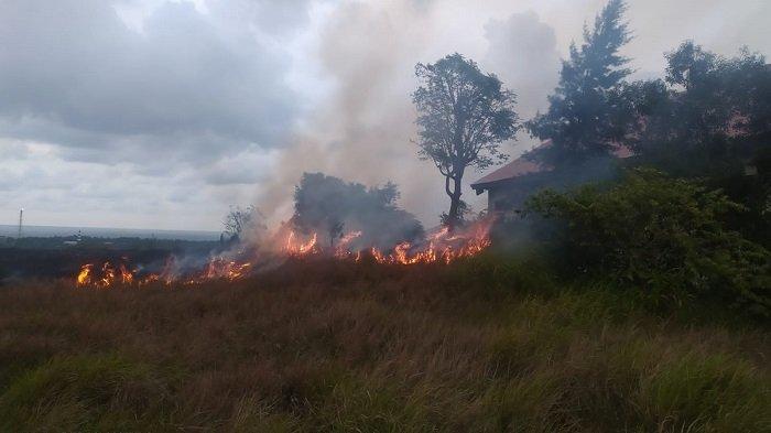 Kebakaran Lahan Terjadi di Lhokseumawe Saat Waktu Berbuka Puasa