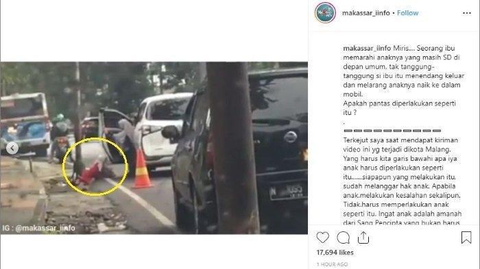 Viral Video Bocah Ditendang dari Dalam Mobil hingga Tersungkur, Diduga oleh sang Ibu