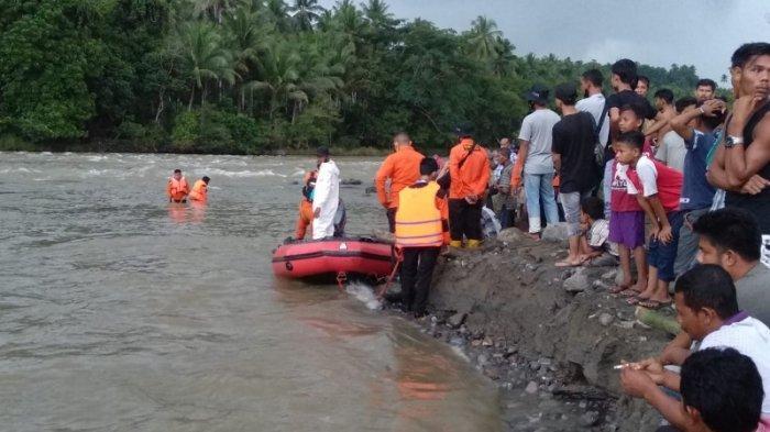 Tim BPBD Bireuen, SAR, dan Warga Cari Bocah Tenggelam di Krueng Peusangan Kawasan Alue Limeng