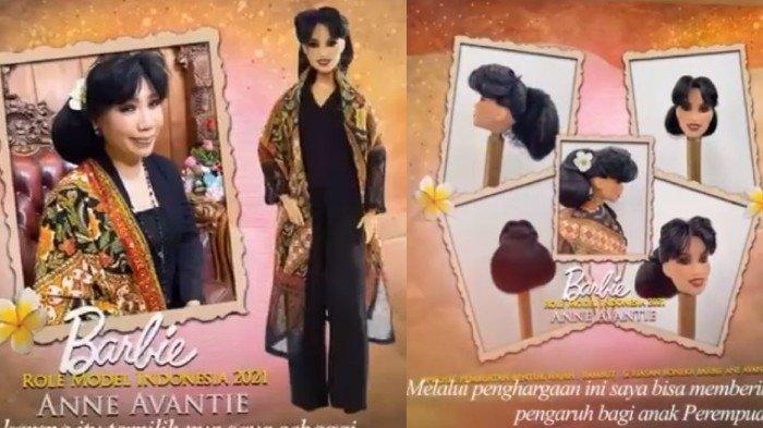 Potret Anne Avantie Jadi Role Model Barbie Pertama Asal Indonesia, Pakai Konde dan Selendang Batik