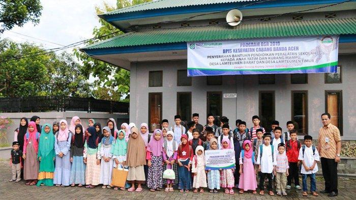 BPJS Kesehatan Banda Aceh Salurkan Bantuan OSR Peralatan Sekolah