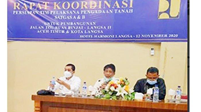 Rapat Koordinasi Pengadaan Tanah Jalan Tol Binjai - Langsa II