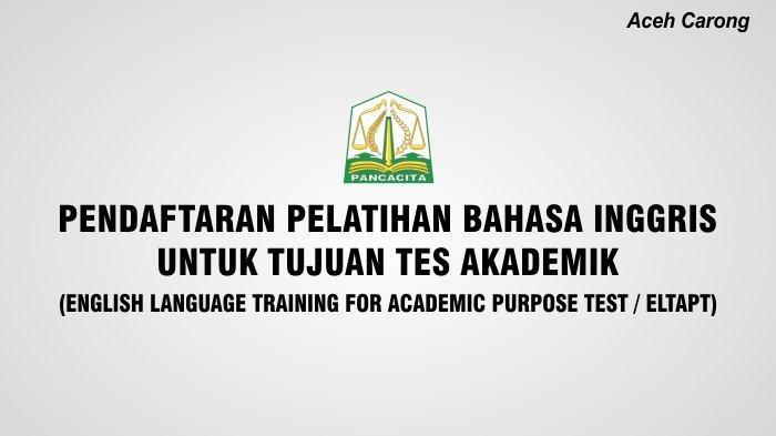 BPSDM Aceh melalui program Aceh Carong, membuka Pelatihan Bahasa Inggris untuk Tujuan Akademik