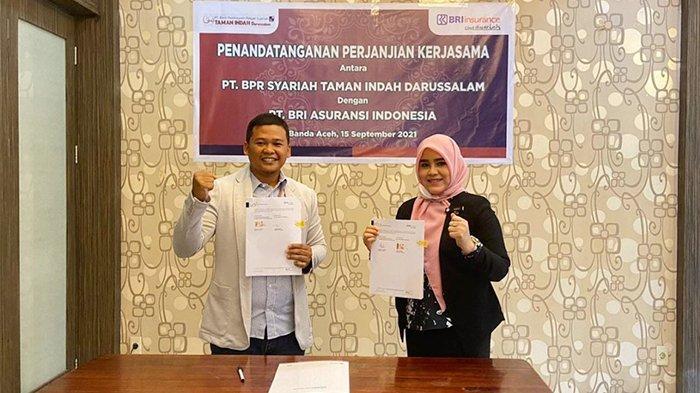 Semakin Mantap berkontribusi mengembangkan UMKM, BRINS Kerjasama dengan BPRS Taman Indah Darussalam