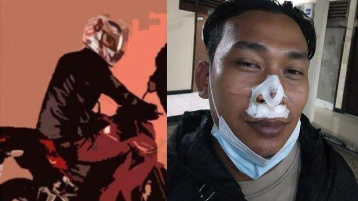 Bripka Firman Terseret saat Bekuk Penjahat Jalanan, Hidung dan Bibir Terluka hingga Harus Dijahit