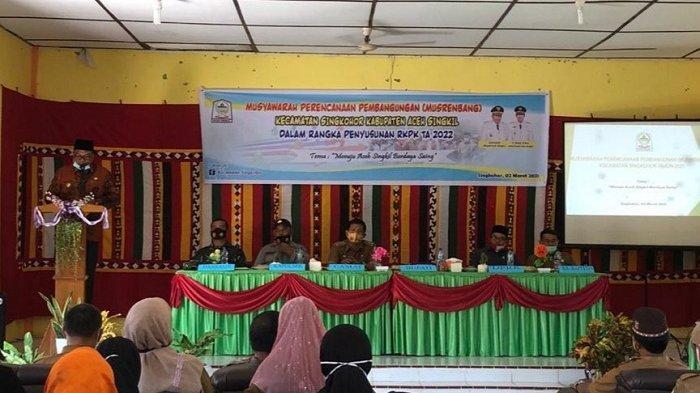 Buka Musrembang di Kecamatan Singkohor, Bupati Aceh Singkil: BUMDes jangan Hanya Label