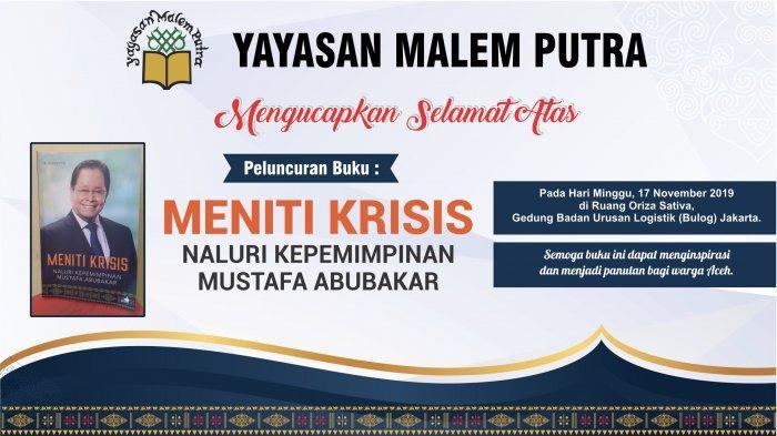 Ucapan Selamat Peluncuran Buku Mustafa Abubakar