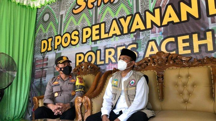 Bupati Aceh Besar Mawardi Ali Tinjau Pos Pengamanan Lebaran Idul Fitri