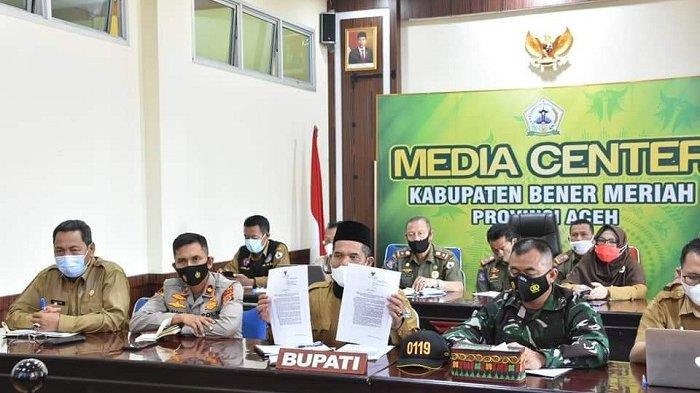 Bupati Bener Meriah Pimpin Rakor Penanganan Covid-19 Pra Lebaran dan Pasca Lebaran Idul Fitri