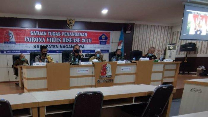 Bupati, Danrem, dan Forkopimda di Nagan Raya Vidcon Penanganan Karhutla dengan Presiden