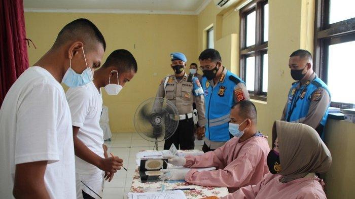 Calon Bintara di Polda Aceh Jalani Pemeriksaan Kesehatan Tahap Satu