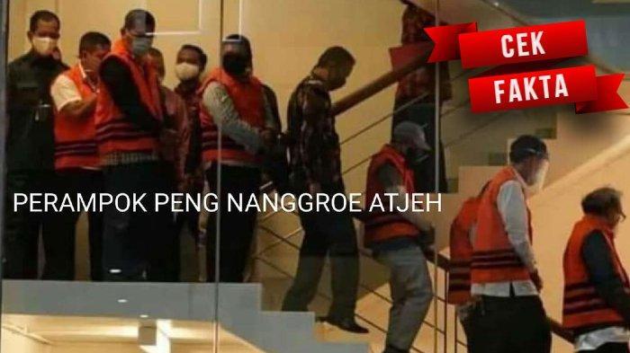 [CEK FAKTA] Heboh Foto 'Perampok Peng Nanggroe Atjeh' dan Sejumlah Orang Pakai Rompi Oranye KPK