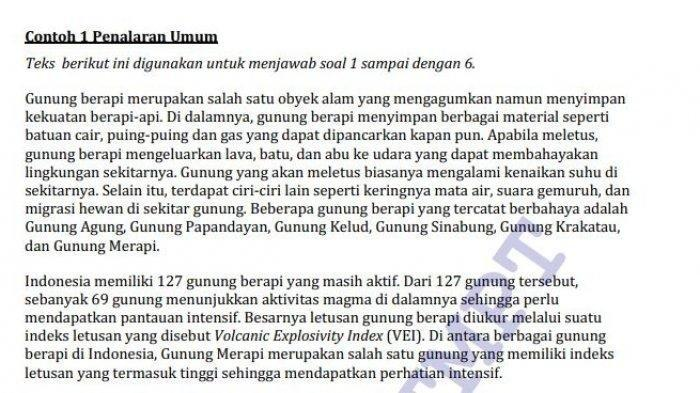 Contoh Soal Dan Jawaban Utbk Sbmptn 2020 Materi Tps Tentang Penalaran Umum Serambi Indonesia