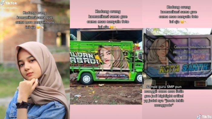 Curhatan seorang gadis yang fotonya sering muncul di belakang truk viral, ini kisahnya.