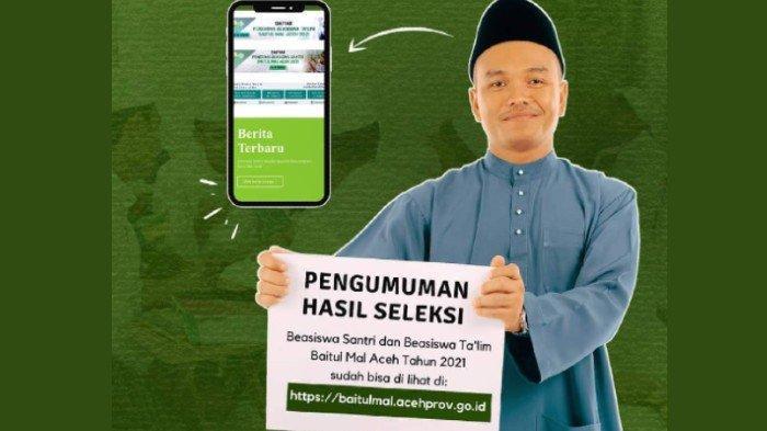 Selamat, 1.643 Santri Se-Aceh Lulus Beasiswa Baitul Mal, Cek Nama Kamu di Sini!
