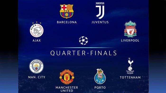Hasil Liga Champions, Waktu dan Aturan Undian Babak Perempat Final Sampai Jadwal Final
