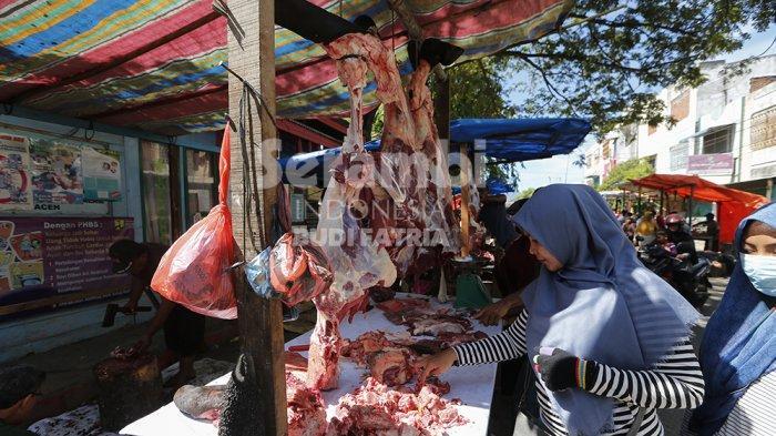 FOTO-FOTO : Hari Pertama, Ini Harga Daging Meugang di Banda Aceh - daging-meugang-1.jpg
