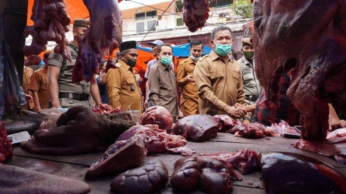 Ini Respon Wakil Wali Kota Banda Aceh saat Tinjau Pasar dan Tahu Harga Daging Meugang Naik